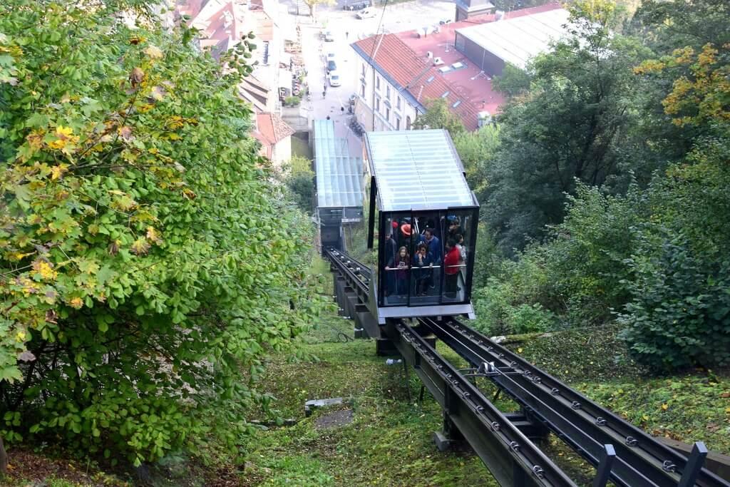 Как добраться до Люблянского замка — фуникулер