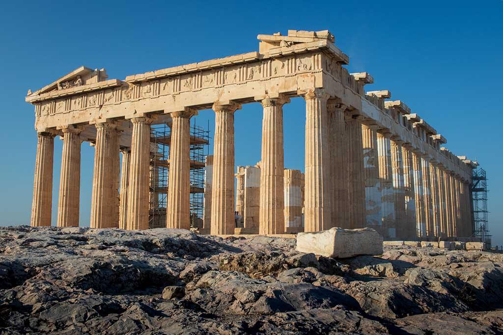 Античный храм Парфенон, история
