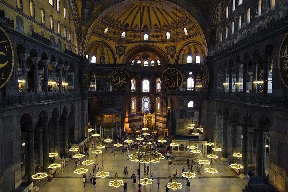 Святая София, Стамбул — внутри музея