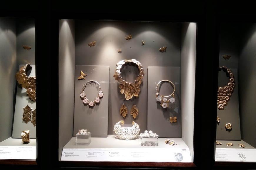 Украшения в музее ювелирных изделий, Афины