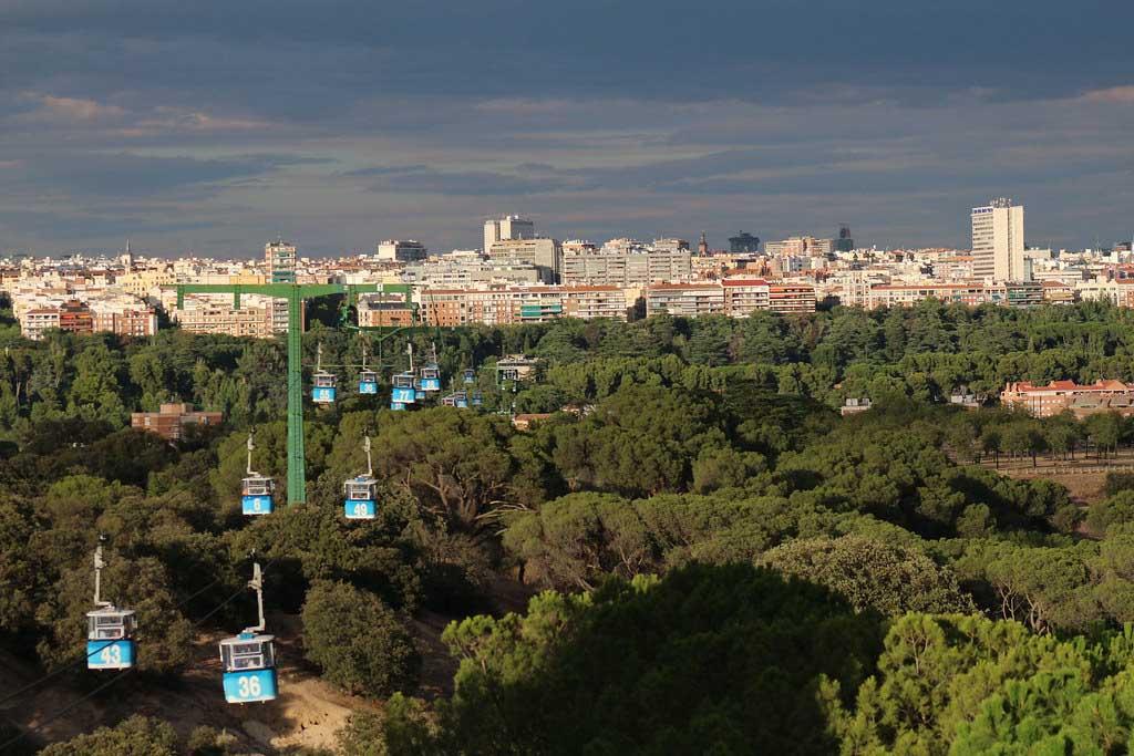 Канатная дорога в парке Каса де Кампо, Мадрид