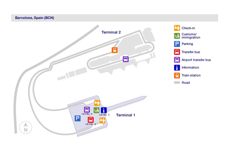 Карта аэропорта в Барселоне