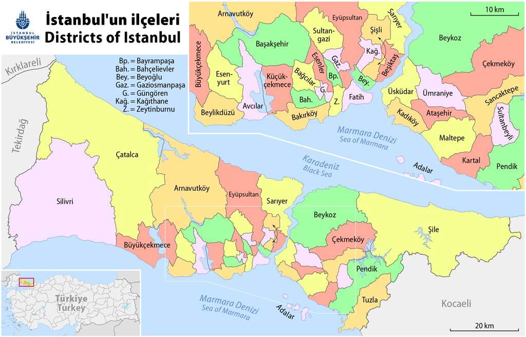 Карта ильчеСтамбула