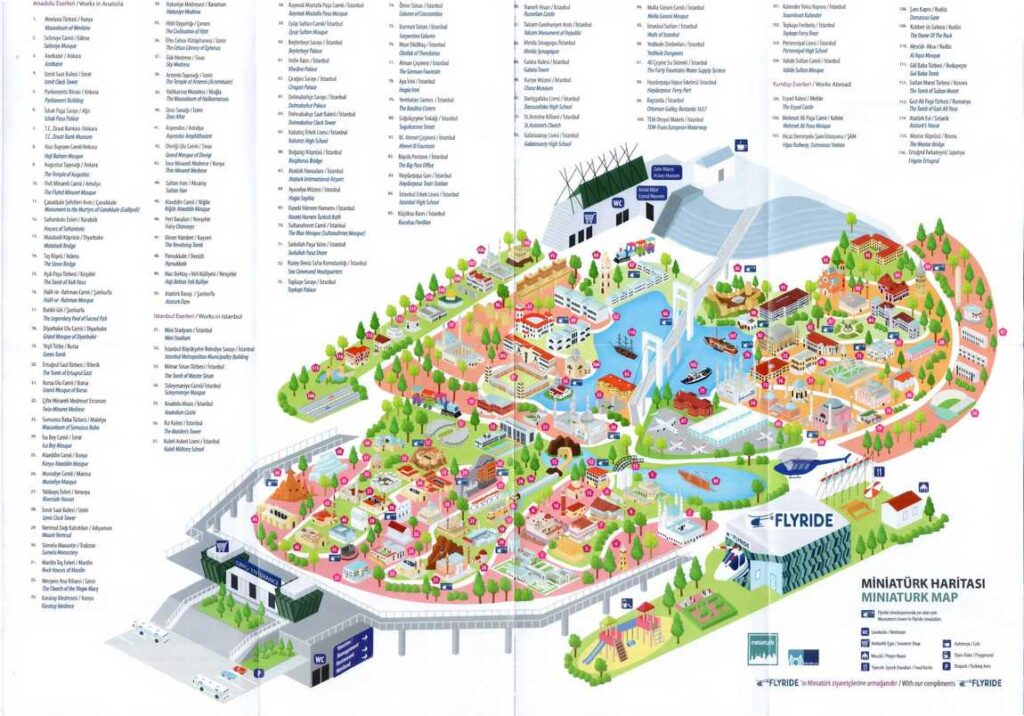 Карта-схема парка Миниатюрк