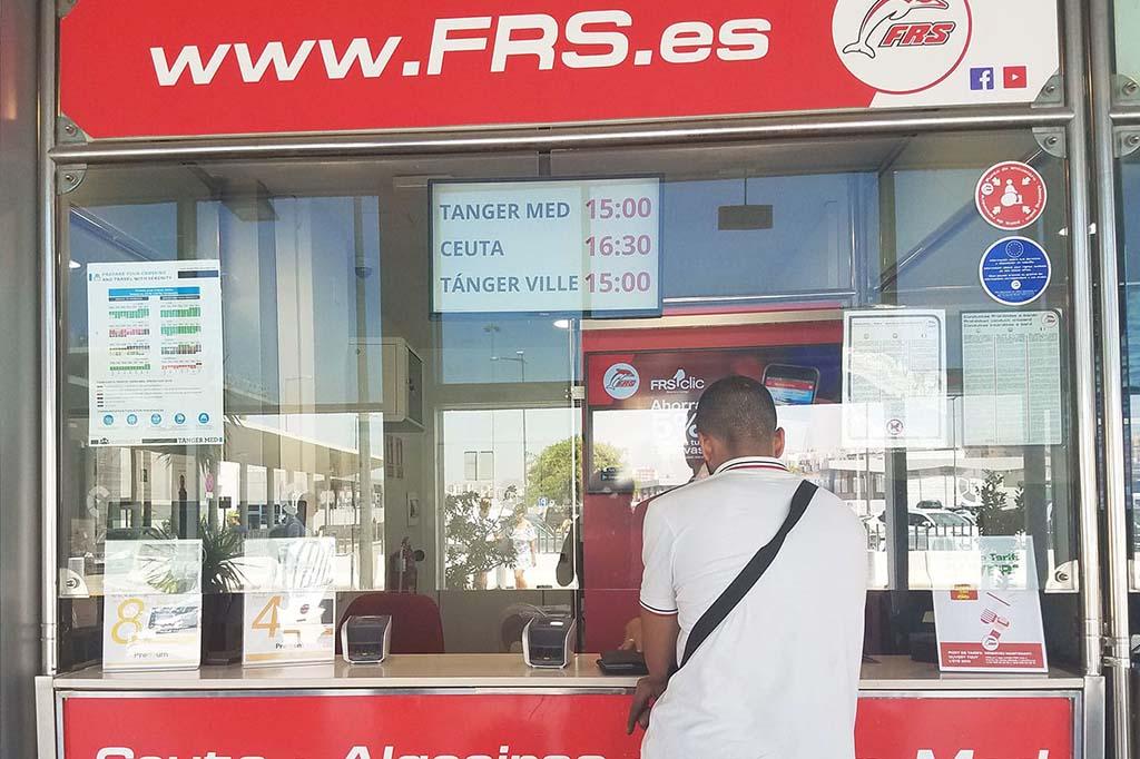 Где купить билет на паром в Испанию