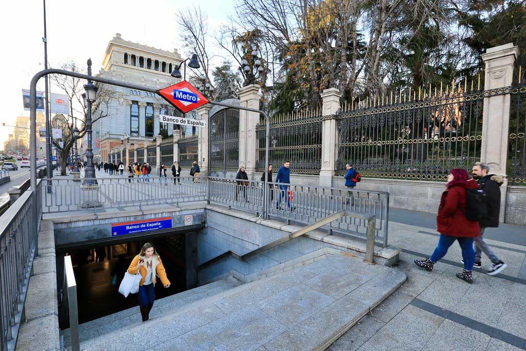 Станции метро в Мадриде