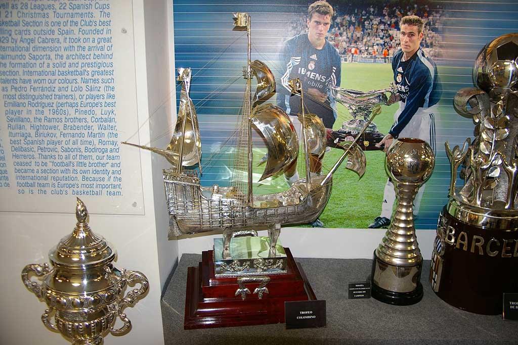 Музей «Реала» на стадионе Сантьяго Бернабеу, Мадрид Испнания