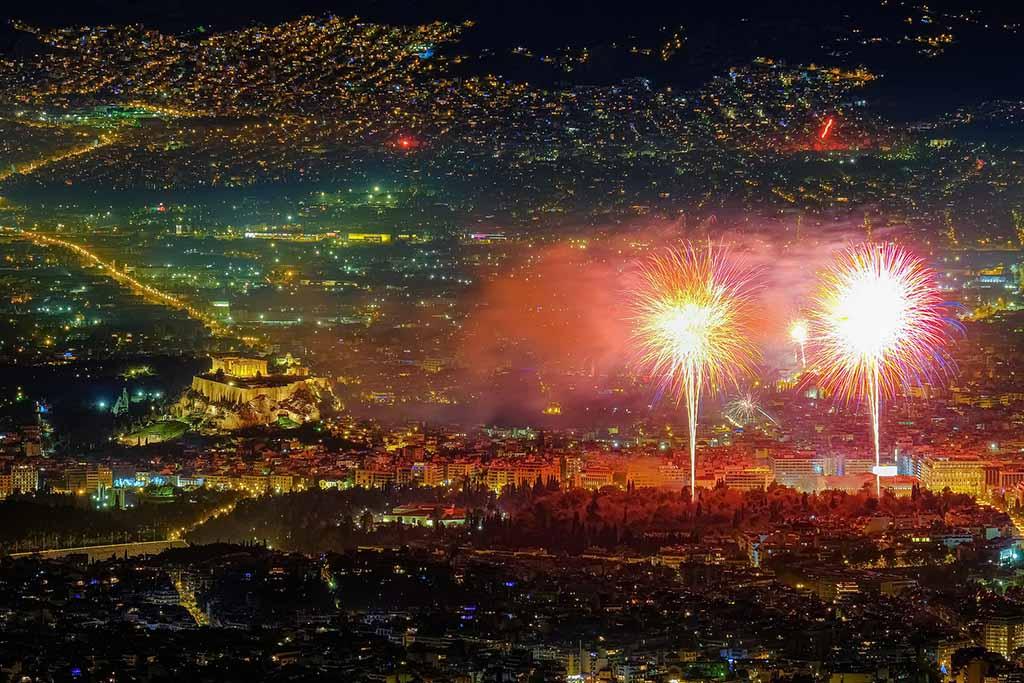 Новый год в Греции, Афины