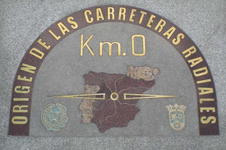 Нулевая точка отсчета на Пуэрта дель Соль, Мадрид