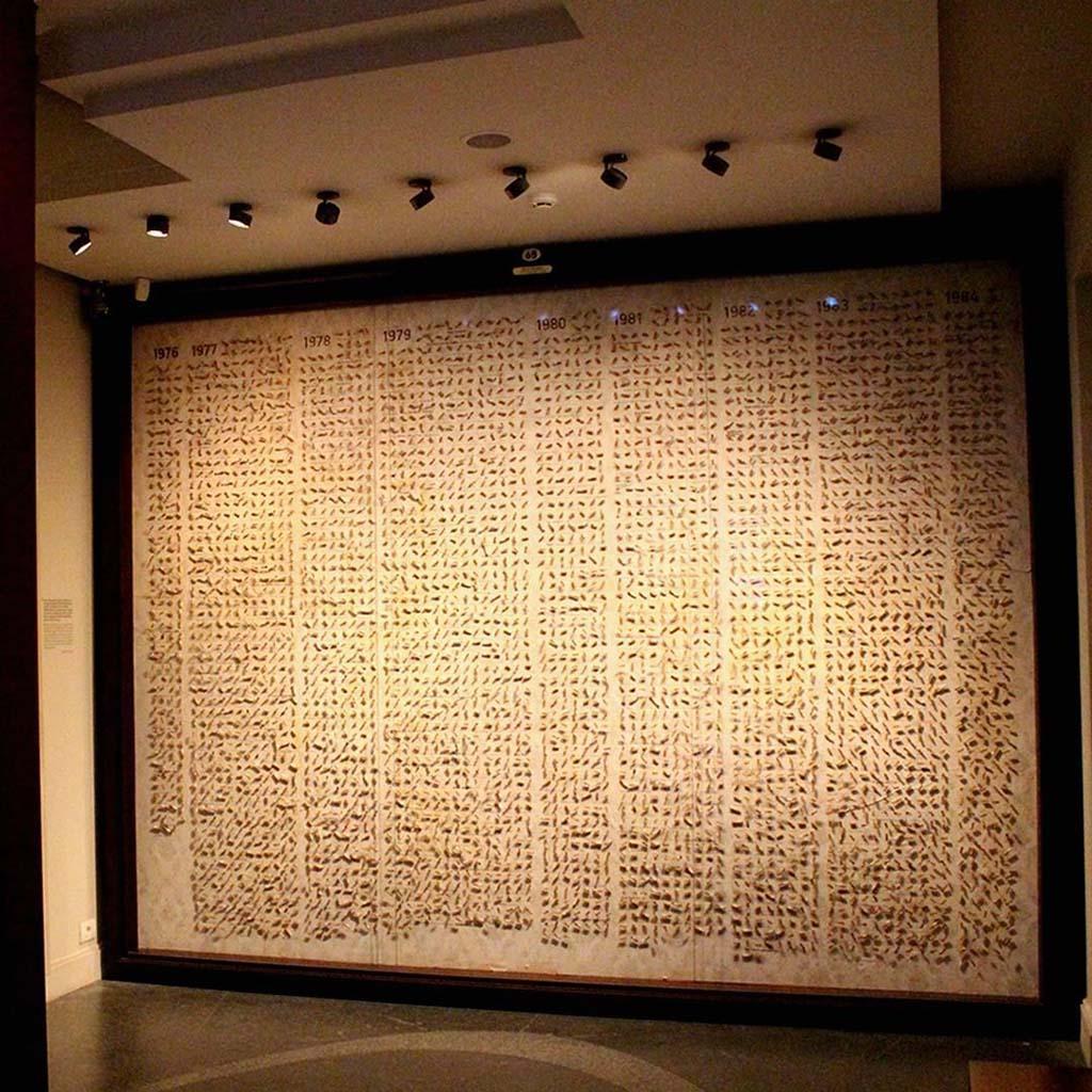 Окурки Фюсун в музее Невинности в Стамбуле