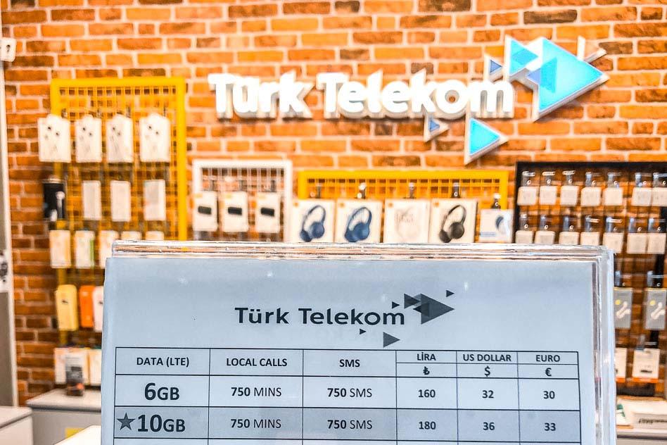 Сотовые операторы Турции