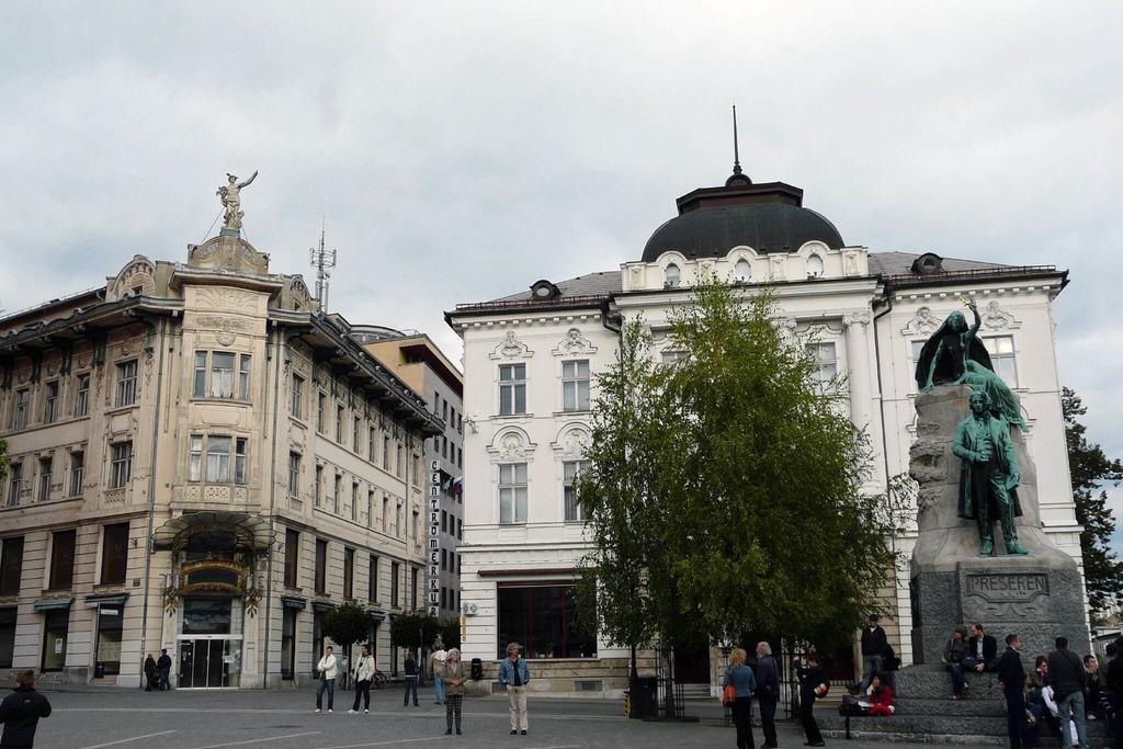 История площади Прешерна в Любляне