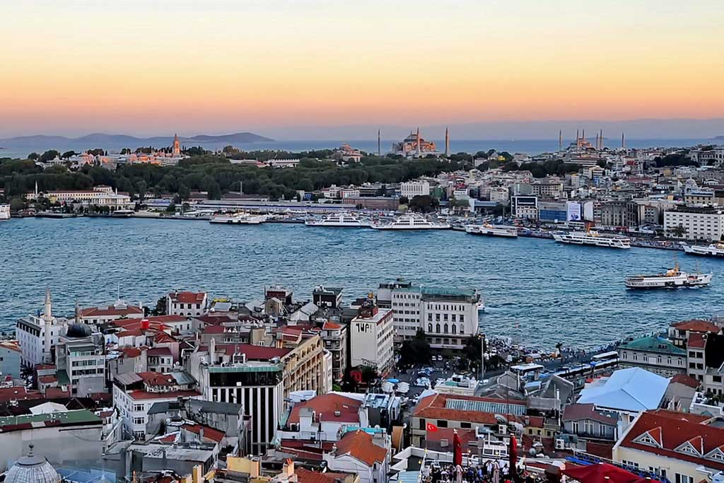 Панорама с Галатской башни, Стамбул