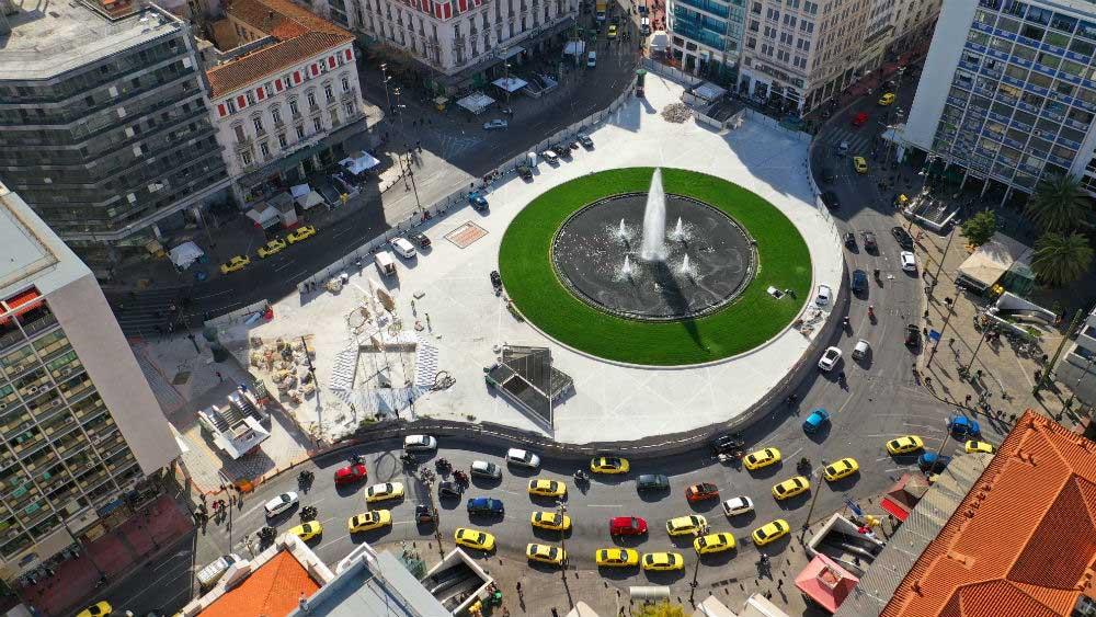 Площадь Омонии, Афины, фото