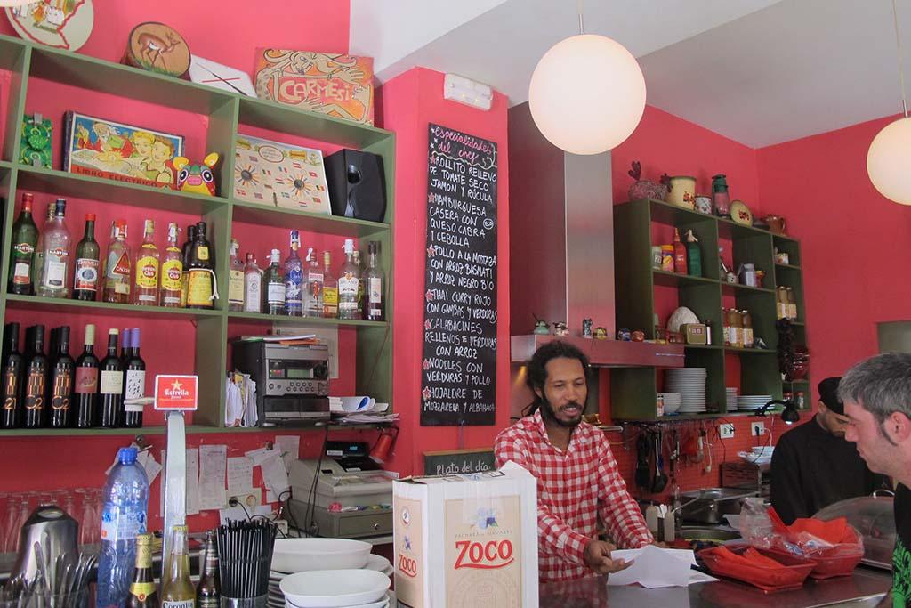 Ресторан с вегетарианской едой Carmesi  — Барселона