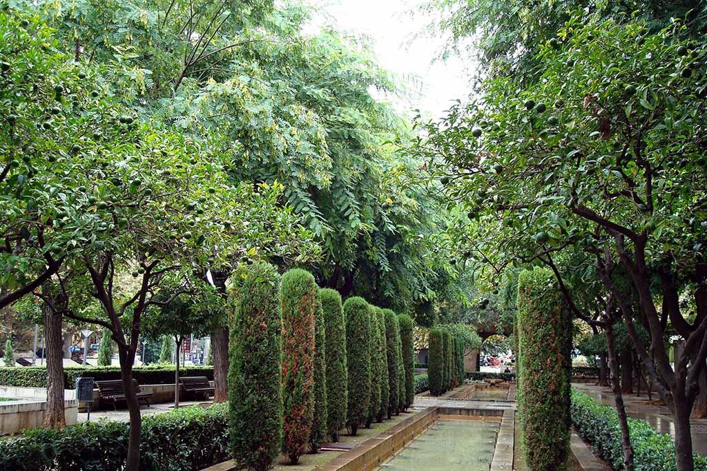 Сад дворца Альмудайна на Майорке