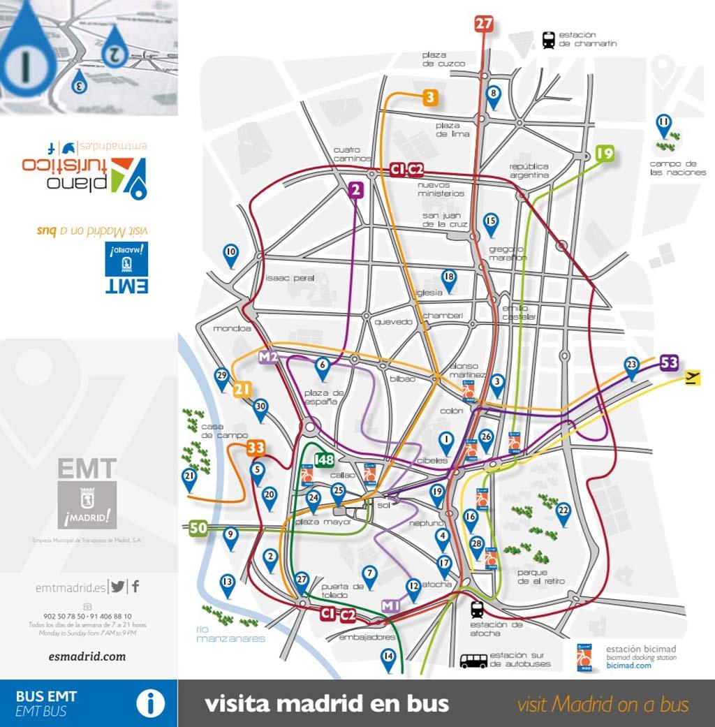 Маршруты автобусов Мадрида