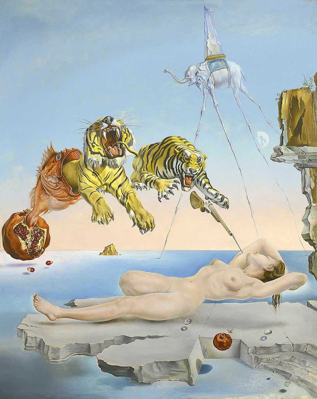 Известная картина Дали «Сон» в музее Тиссена в Мадриде