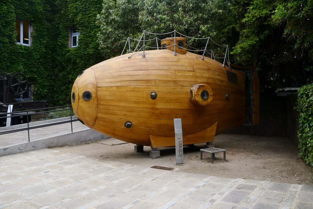 Морской музей в Барселоне — Субмарина Ictíneo I