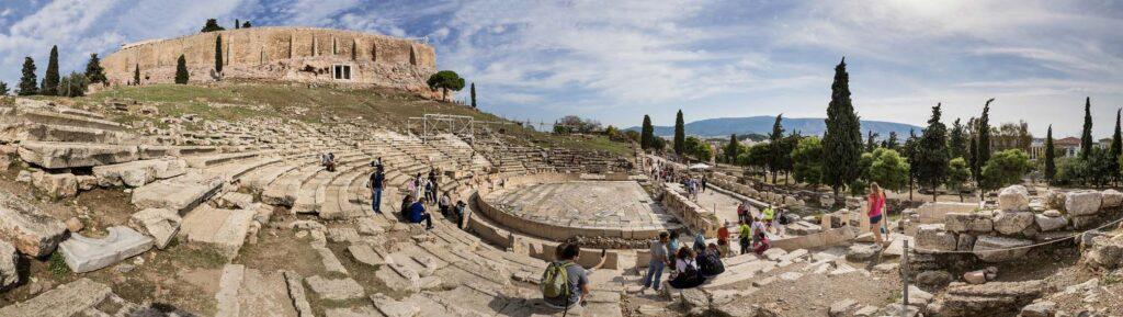 Театр Диониса в Афинах, Греция