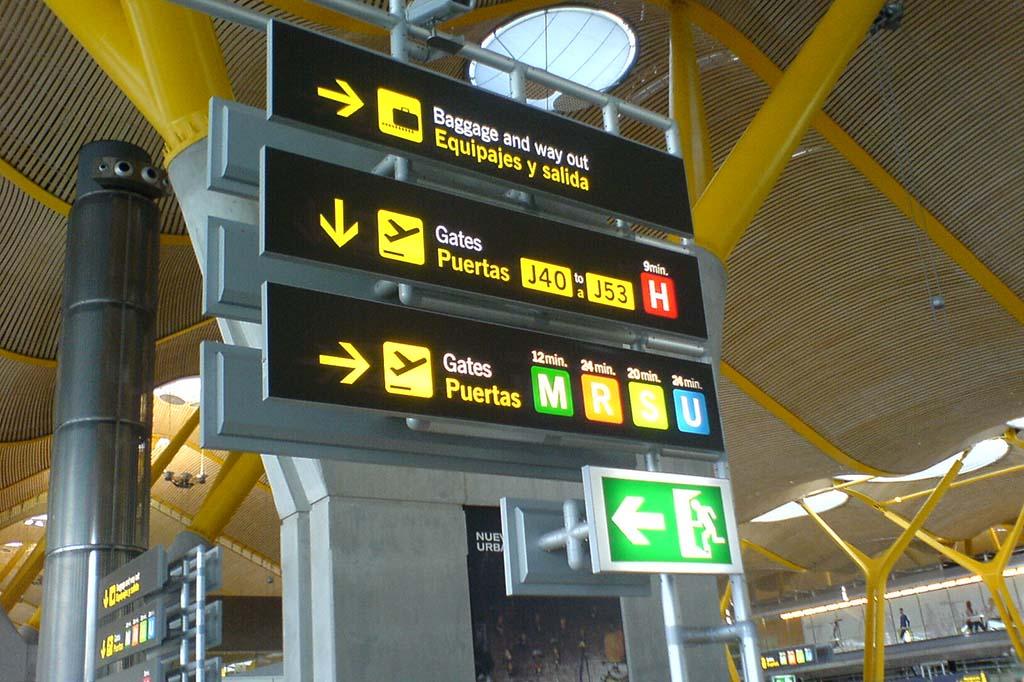 Камеры хранения в аэропорту Мадрида