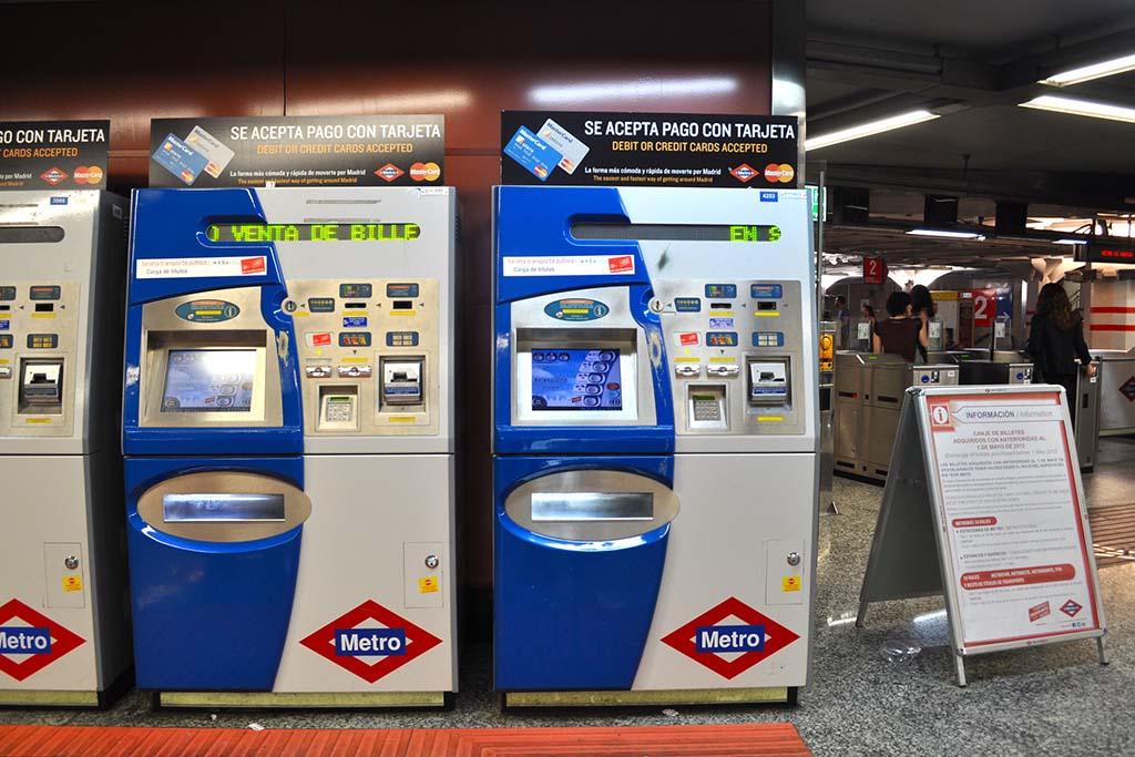 Где купить билет для проезда в метро в Мадриде