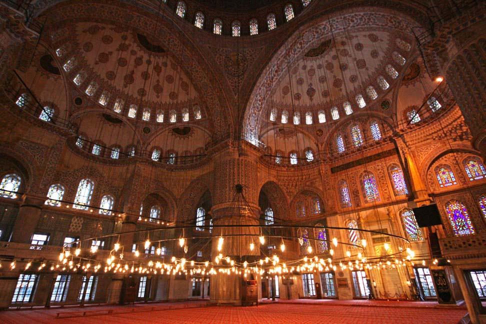 Мечеть Сулеймание, внутри, Стамбул